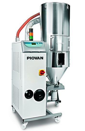 Piovan Dryer Series HR in single hopper configuration